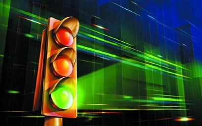 红灯停绿灯行(图)图片
