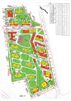 农场游园绿地手绘平面图