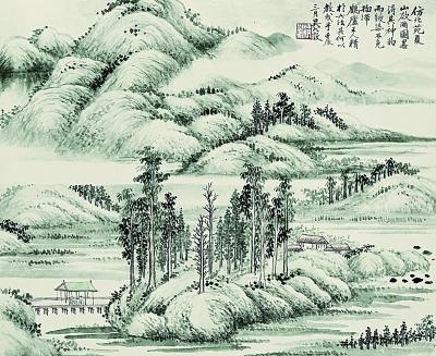划岩山手绘路线图
