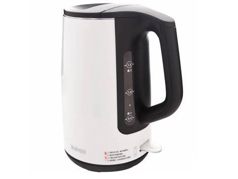 苏泊尔白色电热水壶专业设计人性化关怀