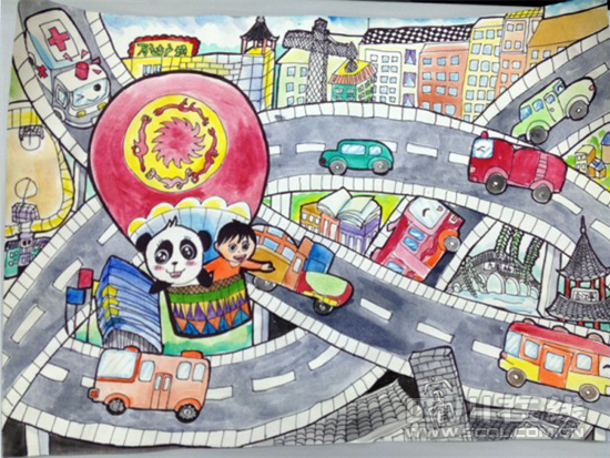 创意桥的儿童画