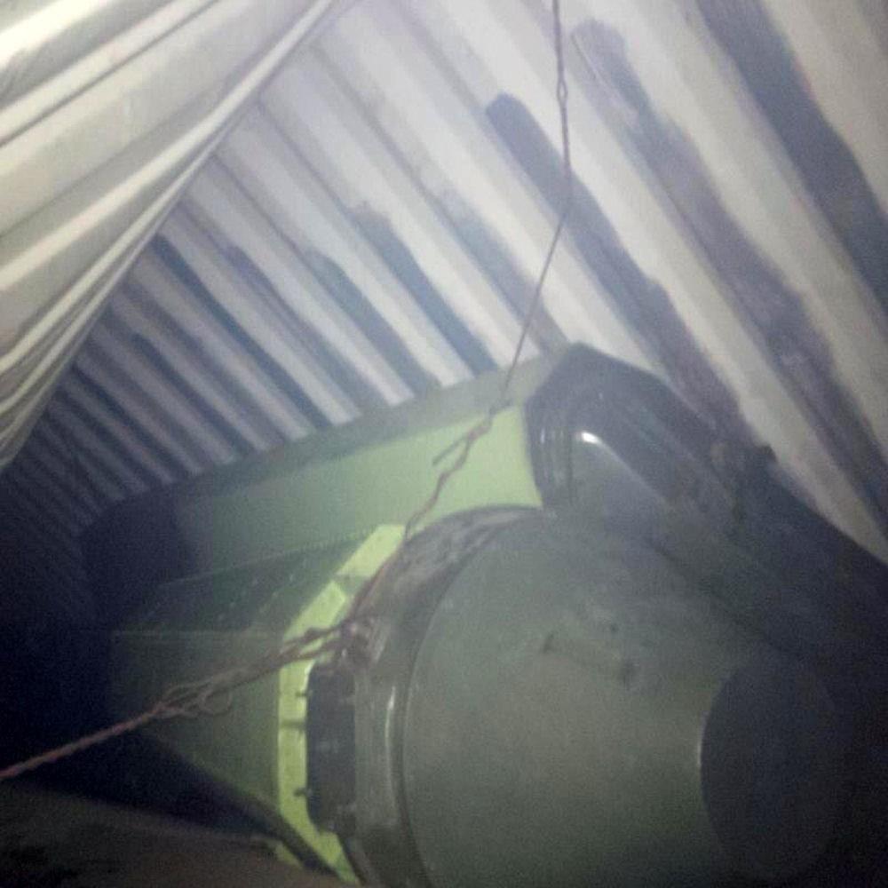 图为巴拿马当局公开的朝鲜货船中的疑似导弹零部件物品