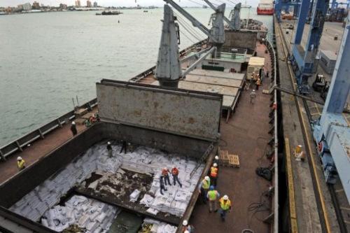 被巴拿马扣押的朝鲜船只