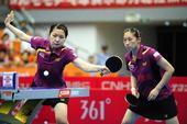 图文:[乒超]大同女团3-1北京 李天一和盛丹丹