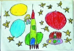 我的中国梦儿童简笔画