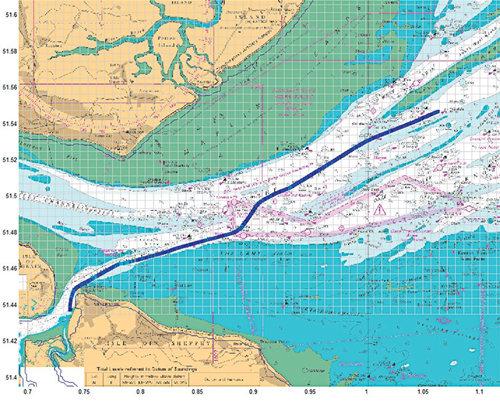 资料图:asf地图验证路线:由梅德韦港口至泰晤士河