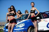 图文:世界汽车拉力赛结缘张掖 汽车宝贝们