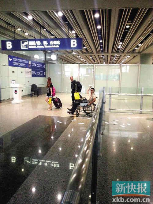 20日冀中星在首都机场事发现场的照片(手机拍摄)。 新华社发