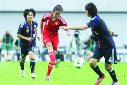 中国女足对阵日本取得一场完败 /CFP