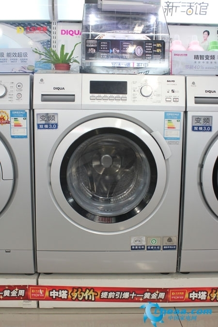 三洋DG-F7526BCS洗衣机外观