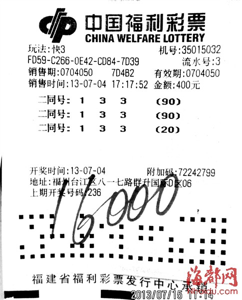 福州快3彩民太能中奖啦(组图)-搜狐滚动