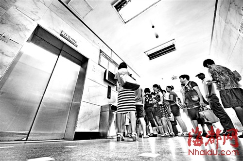 梦见排队上电梯