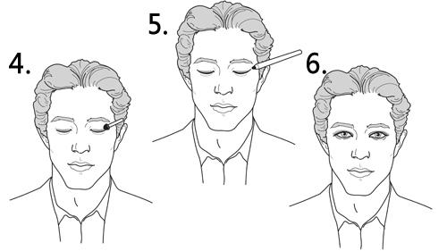 男士烟熏妆的6步画法