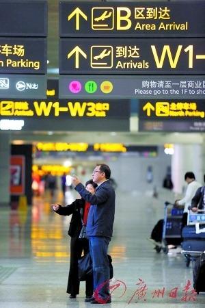 广州白云机场的到达大厅.资料图片