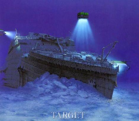泰坦尼克号沉船图片