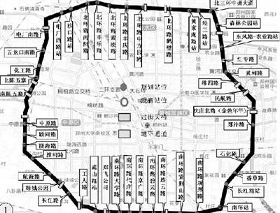 郑州三环快速公交全线共设置封闭站台45对(图)图片