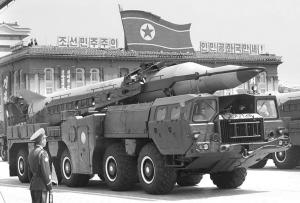 朝鲜在阅兵式上展示的导弹