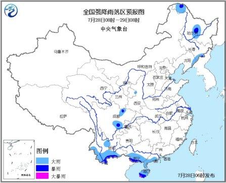 华南南部云南等地有较强降雨 江南江淮高温持续