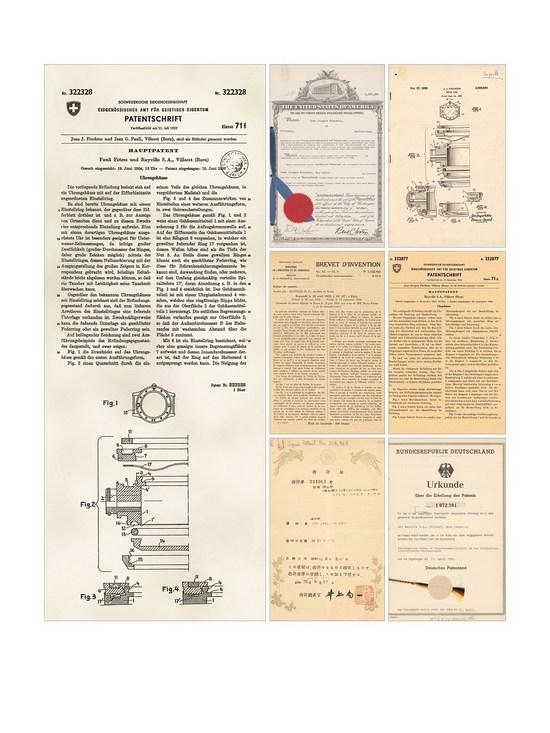 Blancpain宝珀50�x专利证书