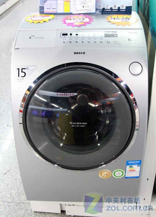 独特弧面机身 三洋滚筒洗衣机2599元