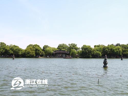杭州西湖全貌手绘图片