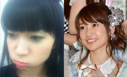 大岛优子新发型左与旧发型右