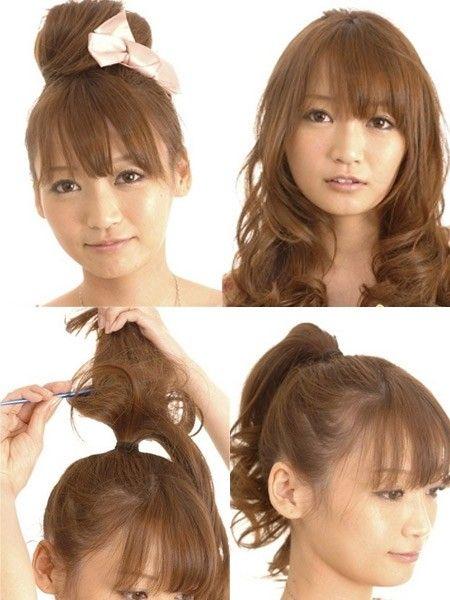 韩式丸子头教程 简单打造增高发型(组图)图片