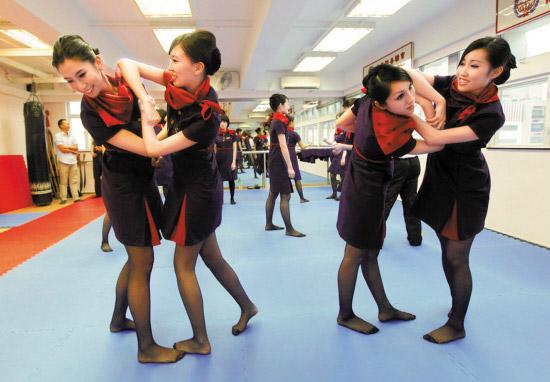 香港航空空姐三年前开始学咏春
