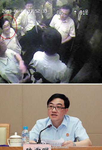 网传视频画面中所指的陈姓法官与上海高院民一庭庭长陈雪明面貌相似。据人民网