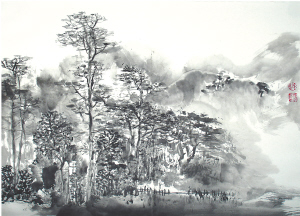 0 《白查写生之三》 (国画) 游桂光 0 《雨滋春树碧连天》 (国画)图片
