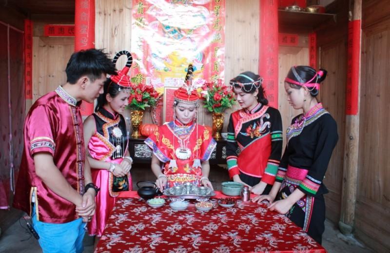 图 畲族 新娘茶 即 新娘献茶礼
