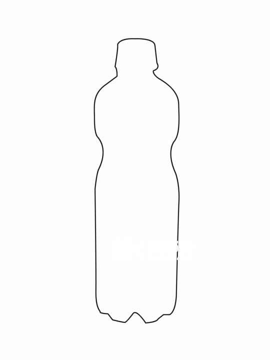 饮料瓶子手绘图