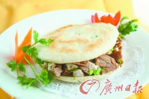 西安名小吃肉夹馍。(资料图片)