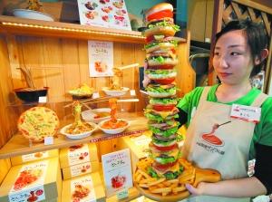日本餐馆少英文菜单 美食模型待外宾
