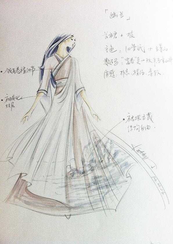 戏曲服饰设计手绘