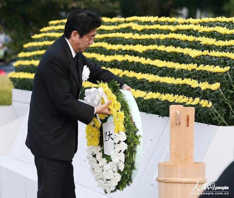 日本 广岛/2013年8月6日,在纪念广岛原子弹爆炸68周年的活动中