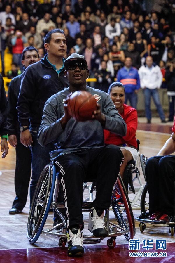 ...贾森 威廉姆斯等参加在哥伦比亚首都波哥大举行的篮球慈善赛 ...