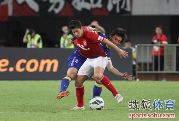 中超图:恒大3-0阿尔滨 孔卡突破PK李学鹏