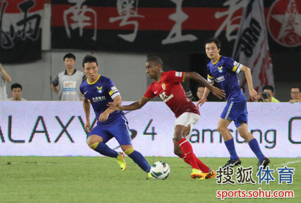 中超图:恒大3-0阿尔滨 穆里奇带球力战陈涛