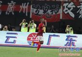 中超图:恒大3-0阿尔滨 穆里奇奶爸式庆祝