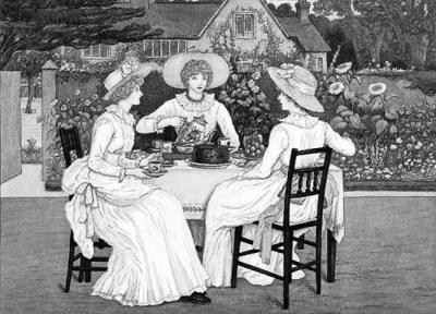 维多利亚/维多利亚时代,饮用下午茶在英国贵族家庭开始流行起来。
