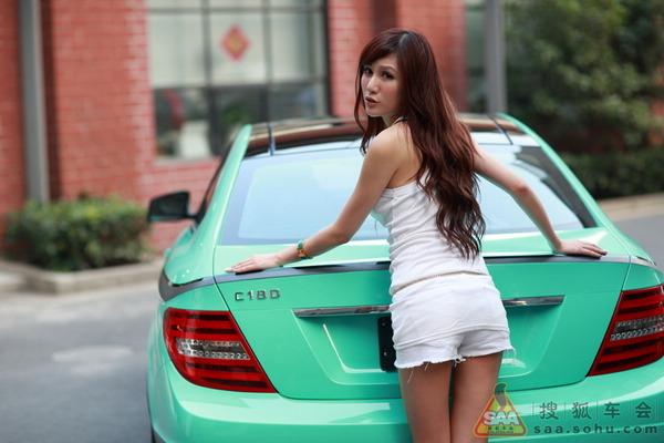 美女车故事秀奔驰c180