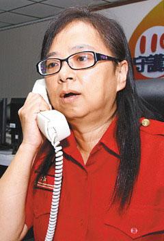 台湾基隆市消防局指挥科护理师林秀敏。联合报图