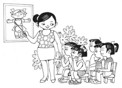 少儿手绘校园简笔画