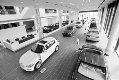 开放式汽车展厅,完全可容纳宝马全系车型.图片