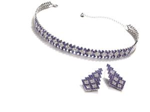 TASAKI 蓝宝石项链&耳环