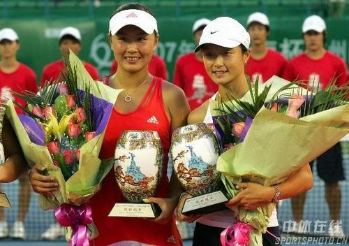 2007年搭档晏紫广州网球公开赛