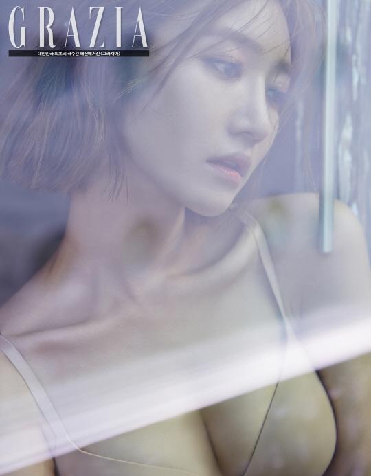 朝鲜女屄_组图:韩国女星高俊熙内衣画报性感逼人