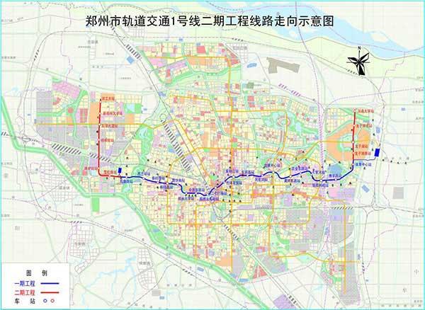郑州地铁规划 郑州地铁1至6号线路规划图-搜狐