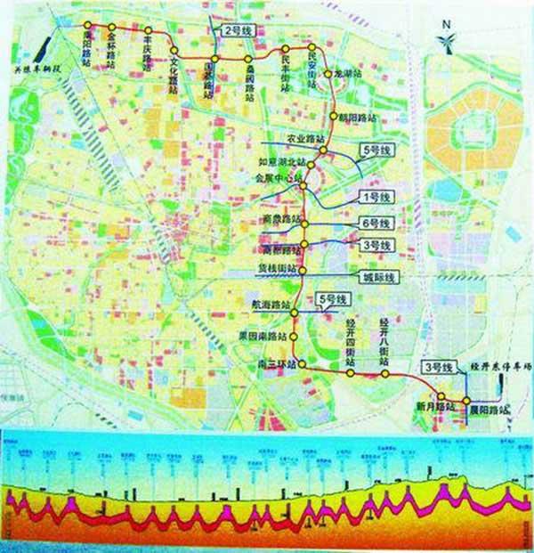 郑州地铁规划 郑州地铁1至6号线路规划图图片